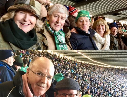 Gold Members together at Murrayfield….Messrs Quinlan, Saville and Smyth