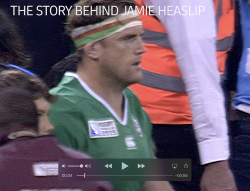 DHL delivers jamie Heaslip back to Trinity!