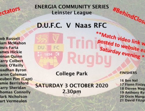 DUFC team v Naas RFC 3 October